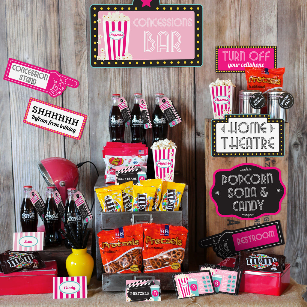 Girls Movie Night Party Concession Stand