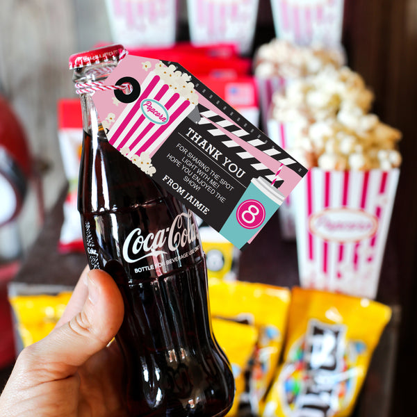Movie Night Party Concession Stand   Girls Movie Night Candy and Soda – Sunshine Parties