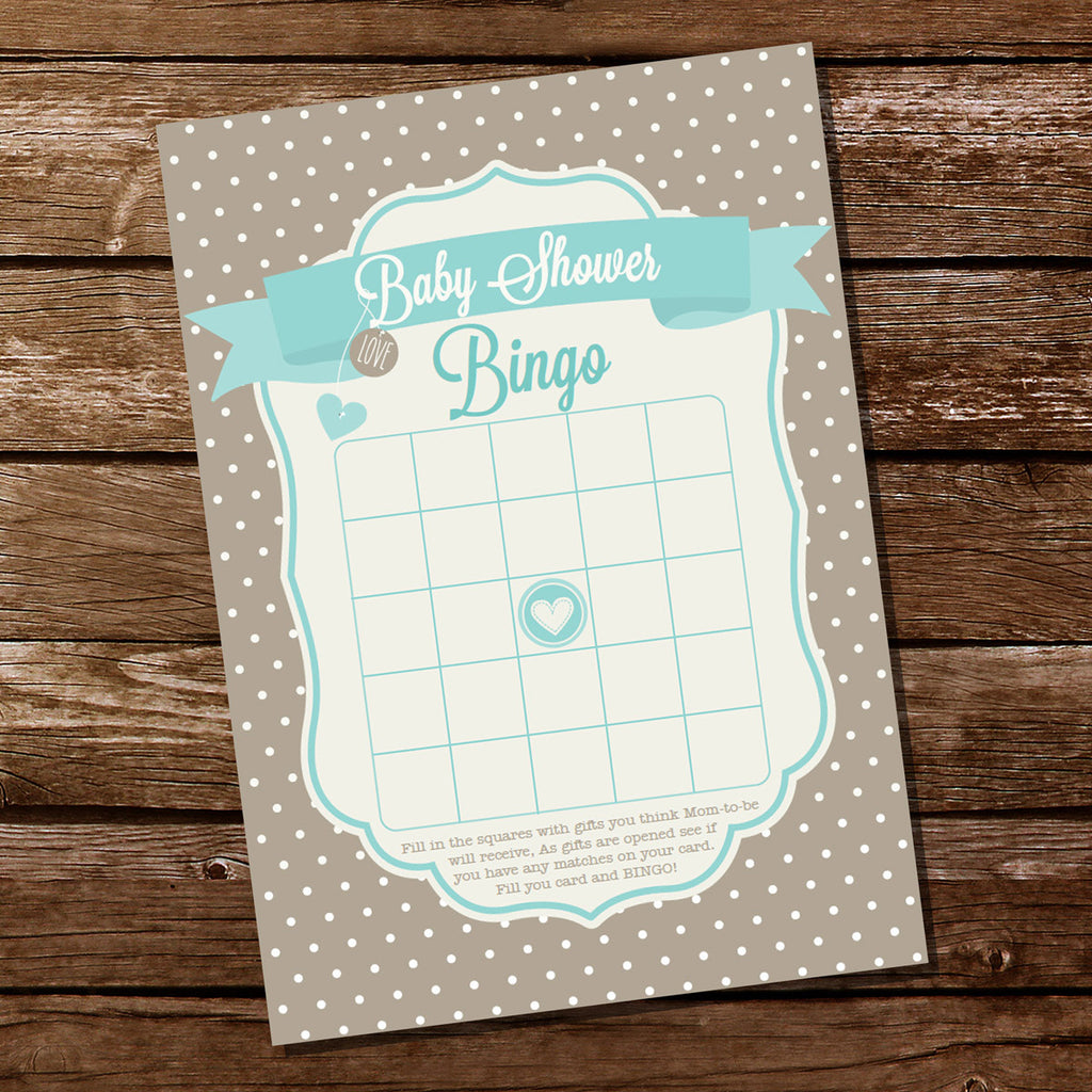 Neutral Polka Dot Baby Shower Party Game