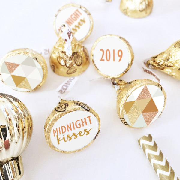 Hershey's Kisses Metallic Labels New Year
