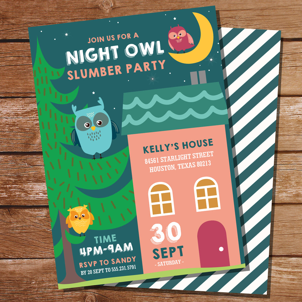 Night Owl Party Invitation