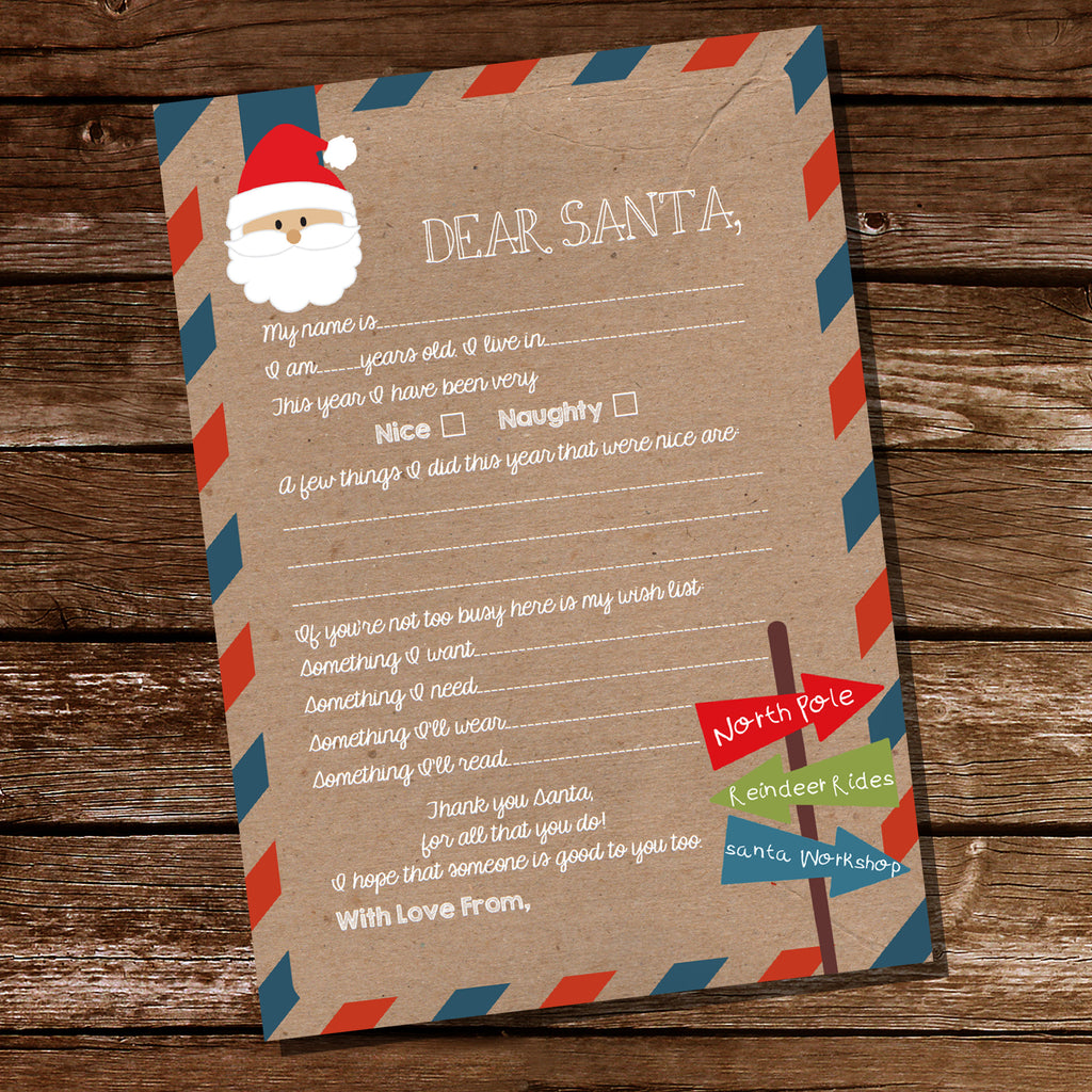 Dear Santa Letter | Father Christmas Letter