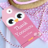 Cute Owl Birthday Party Favor Tags