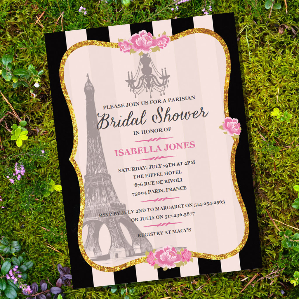 French parisian bridal shower invitation sunshine parties french parisian bridal shower invitation filmwisefo