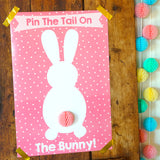 Pin the Tail on the Bunny Pink