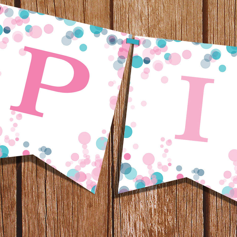 Pink Or Blue Gender Reveal Party Banner