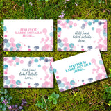 Pink Or Blue Gender Reveal Food Label Tent Cards