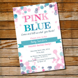 Pink Or Blue Gender Reveal Invitation