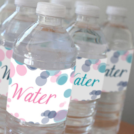 Pink Or Blue Gender Reveal Water Bottle Labels
