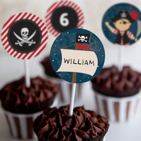 Pirate Party Cupcake Toppers