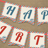Vintage Airplane Ticket Party Decorations | Airplane Party Decor
