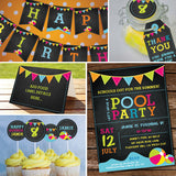 Summer Pool Party Decorations Set