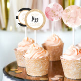 Pop Fizz Clink Champagne Cupcake Toppers
