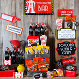 Movie Concession Stand party Printables