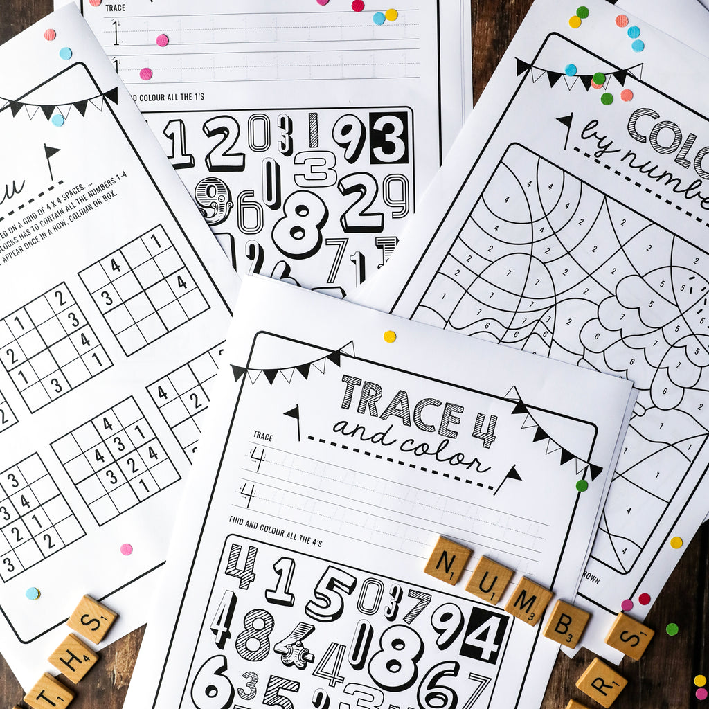 Kids Maths Activity Sheets | Numbers Activity Sheets | Kids Sudoku