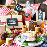 Chalkboard Summer Picnic Set  | Red & White Gingham Picnic Decor