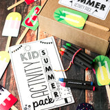 Kids Summer Activity Pack | Activity Booklet, Memory Game, Kit Label