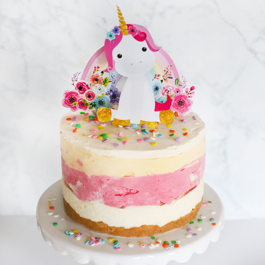 Unicorn and Rainbow Cake Topper