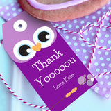 Purple Owl Birthday Party Favors