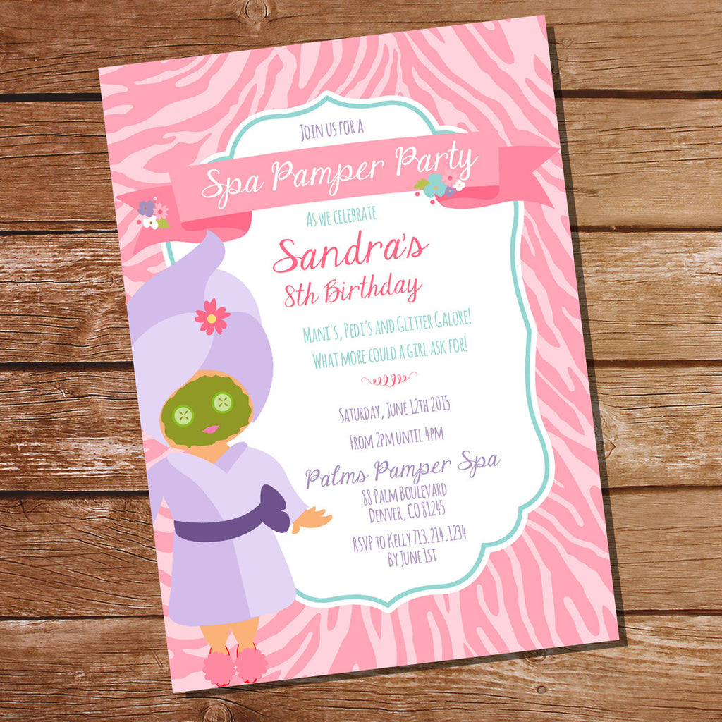 how it works - Pamper Party Invitations