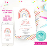 Boho Rainbow Party Invitation