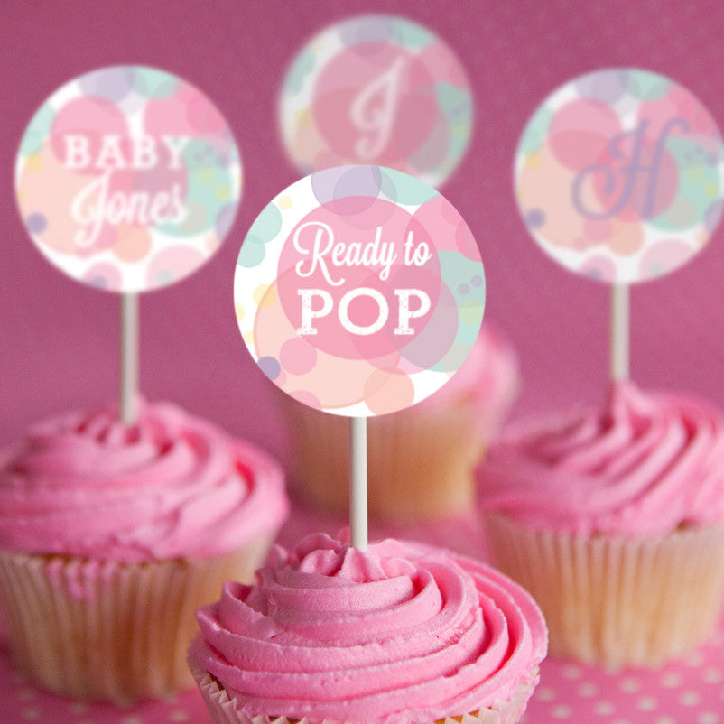 Super Ready To Pop Baby Shower Cupcake Toppers – Sunshine Parties UV-62