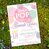 Ready To Pop Baby Shower Invitation For A Girl