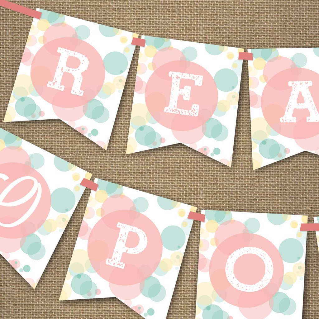 Ready To Pop Baby Shower Banner Unisex Baby Shower Sunshine Parties
