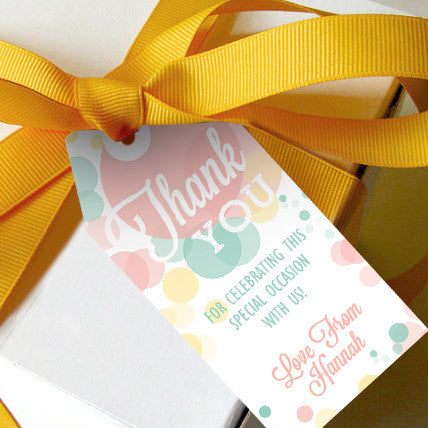 Ready To Pop Baby Shower Favor Tags | Unisex Baby Shower