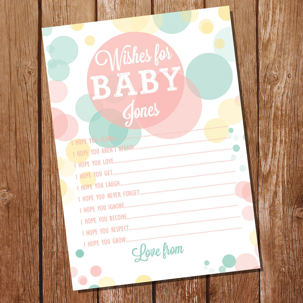 Ready To Pop Baby Shower Game | Unisex Wishes For Baby Cards