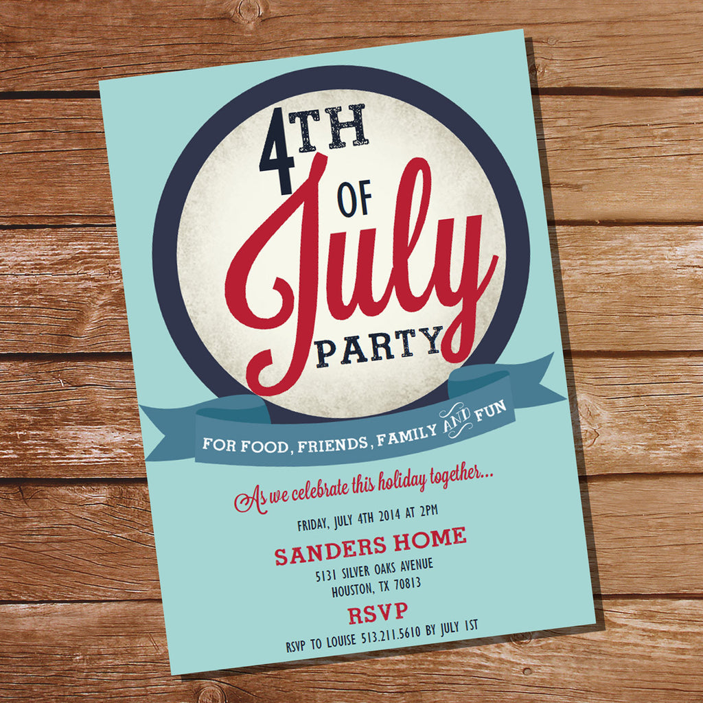 4th of July Party Invitation | July 4th Party | Independence Day Printable