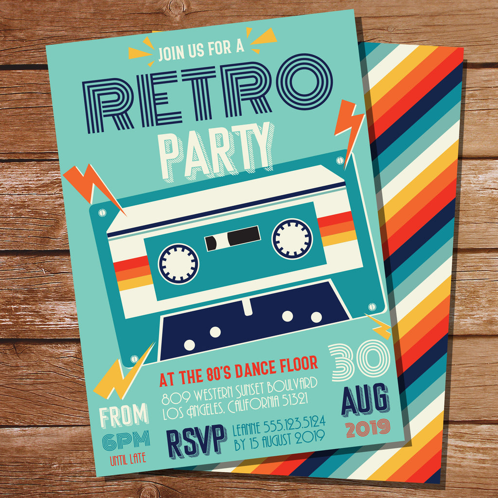 Retro Dance Party Invitation