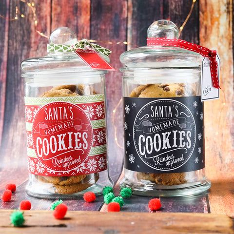 Santa Cookie Jar Labels and tags