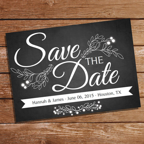 Chalkboard Save The Date Card | Save The Date | Wedding Stationery