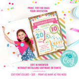 Scavenger Hunt Party Photo Invitation