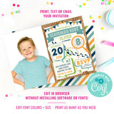 Scavenger Hunt Birthday Party Photo Invitation