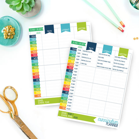 Home school lesson planner