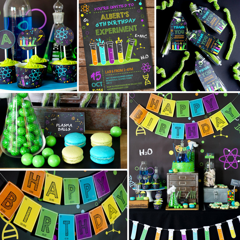 image relating to Printable Mad Science Sign identified as Science Experiment Social gathering Decorations Established Crazy Scientist Social gathering