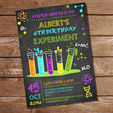 Science Experiment Party Invitation