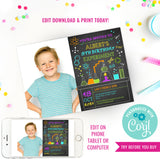 Science Lab Experiment Party Photo Invitation