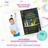 Science Experiment Party Photo Invitation