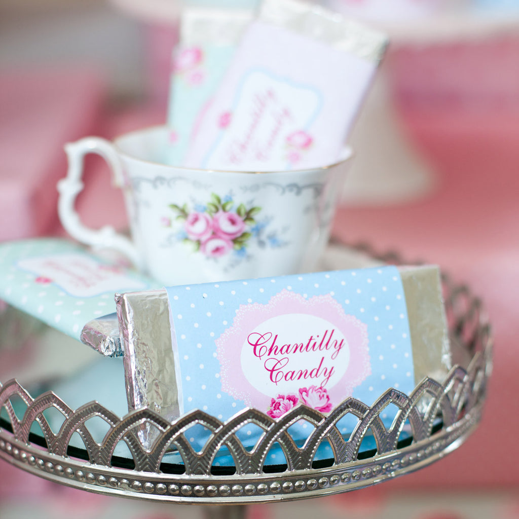 Shabby Chic Princess Candy Bar Wrappers | Princess Chocolate Wrappers