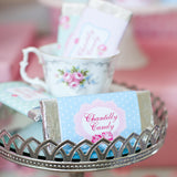Shabby Chic Princess Baby Shower Candy Bar Wrappers