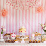 Shabby Chic Floral Birthday Party Table
