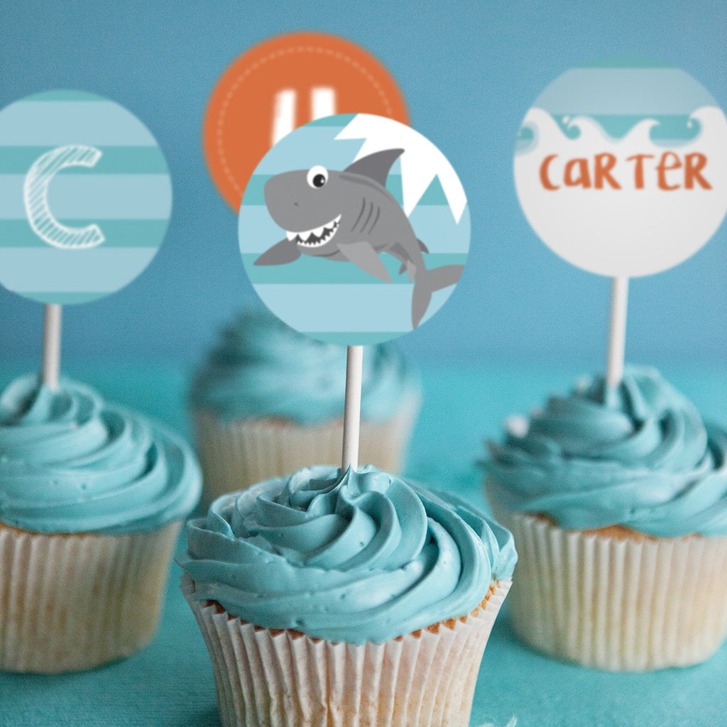 recipe: shark cupcake topper [25]
