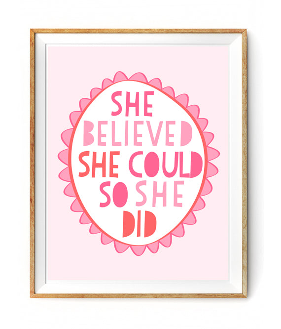 She Believed She Could So She Did Wall Decor Poster