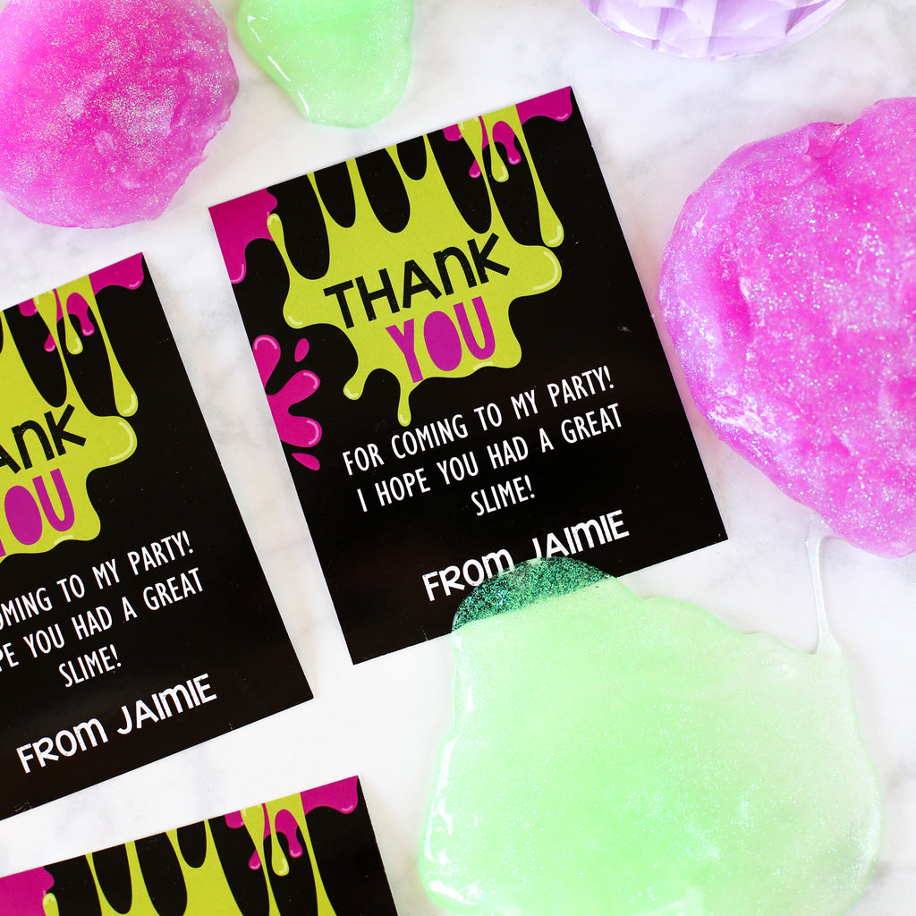 Slime party Thank-You Cards