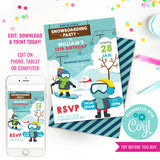 Snowboarding Party Invitation