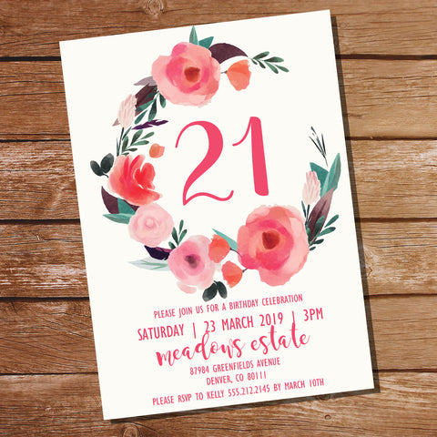 Peony Spring Party Invitation | Outdoor Floral Party