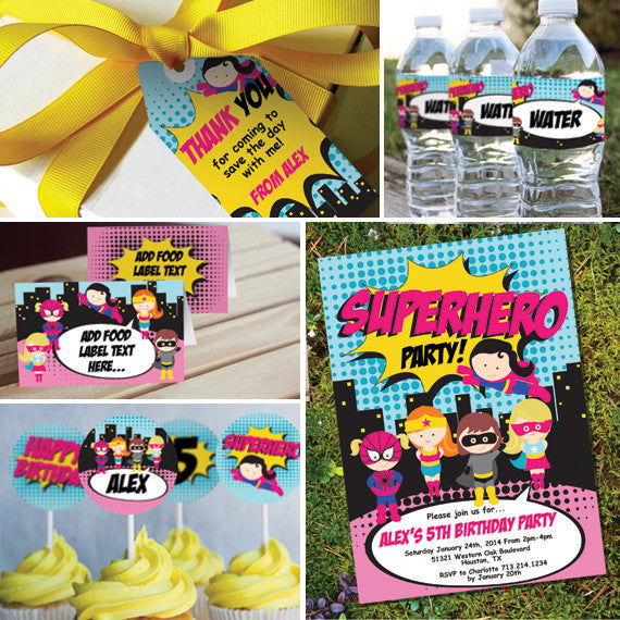 Girl Superhero Party Decorations